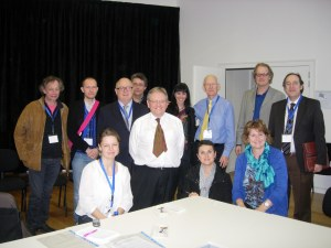 Taskforce members with colleagues at the hospital in Vic where palliative began 25 years ago