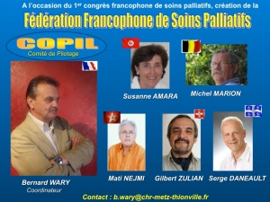 The French-speaking Federation of Palliative Care:  steering committee members