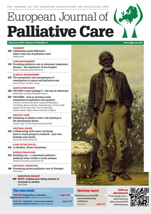 Case studies a research strategy appropriate for palliative care