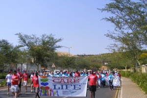 People take to the streets to celebrate World Hospice and Palliative Care Day in South Africa (2010)
