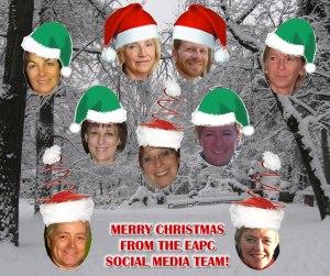 Christmas greeting from social media team