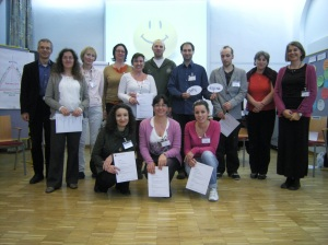 Celebrating success: participants and trainers at the end of the 2012 workshop