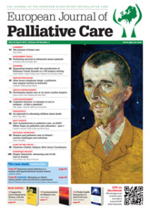 Read the full article in the March edition of the European Journal of Palliative Care