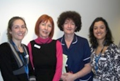 The team behind the Schwartz Rounds at St Joseph's: (left to right) Dr Abigail Wright, Jenny Watmore-Eve, Mary Flatley and Dr Anjali Mullick