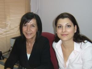 Matina Symeonidi (right) and Kyriaki Mistakidou
