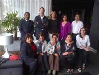 Participants in the Peru meeting: Back row: Alfredo Aguilar (Peru), Emilio Hererra Molina (Spain), Macarena Perez Castells (USA), Marisol Ahumada (Chile), Luis Ramirez Garua (Peru). Front row: Yisela Vargas Correa (Peru), Liliana De Lima (USA), Maria del Rosario Berneguel (Peru), Isabel Torres Vigil (US), Carolina Monti (Argentina)