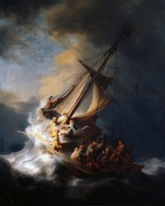"""I was being swept along on a tidal wave beyond my control."" Rembrandt's 'Storm on the Sea of Galilee' (via Wikimedia Commons)"