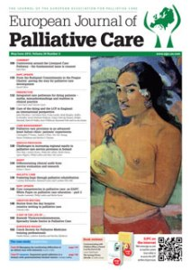 Read the full article in the March/April and May/June issues of the European Journal of Palliative Care