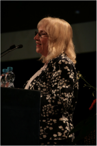 Professor Sheila Payne at the congress opening on Thursday