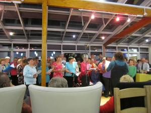 The community choir – part of the public education programme at the hospice