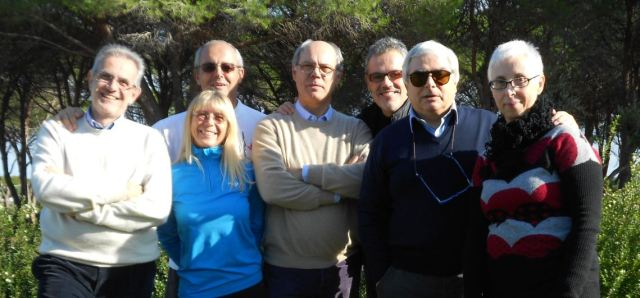 Members of the scientific and organising committee of the Sardinian-European Meeting of Palliative Care. (Dr De Conno and Heidi Blumhuber are second from the left)