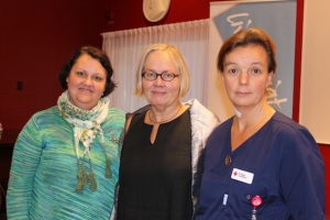Speakers at the event: (Left to right) Annica Charoub, Barbro Norrström and Pia Hakola