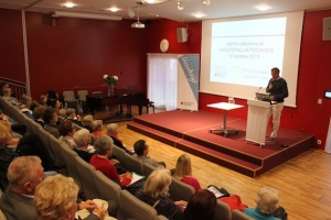 Dr Mats Linderholm, head of the Palliative Care Centre at Stockholms Sjukhem, speaking on World Hospice and Palliative Care Day