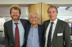 German Conference at St Christopher's 2013. David (centre) with Lukas Radbruch and Friedemann Nauck (right)