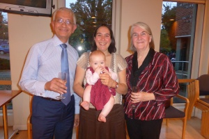 David with daughter, Sophie ;granddaughter, Celeste, and wife, Josette.