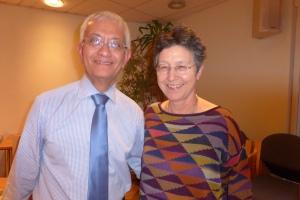 David's retirement party at St Christopher's on 6 November: David with Barbara Monroe