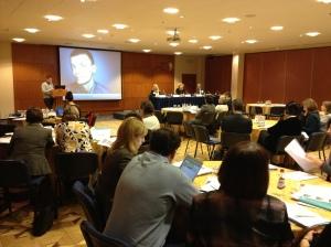 Sergey Votyagov (EHRN) presenting the state of harm reduction