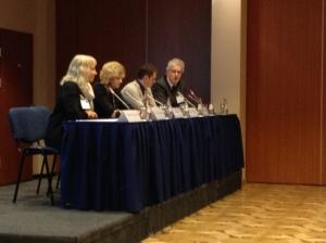 EAPC President, Professor Sheila Payne, with Audronė Astrauskienė, Sergey Votyagov and Willem Scholten