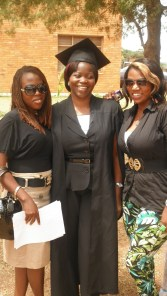 Celebrating success: Sylvia Dive (centre) was one of 34 students who graduated with a Diploma in Clinical Palliative Care from the Institute of Hospice and Palliative Care in Africa. Sylvia leads the international palliative care programme for Francophone Africa