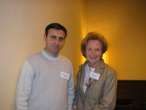 Faculty leader, Dr Kathleen Foley, with Dr Avetis Babakhanyan