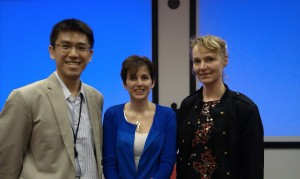Dr Ping-Jen Chen with Dr Elizabeth Sampson (UCL) (centre) and Dr Jenny van der Steen (VU University, Amsterdam).