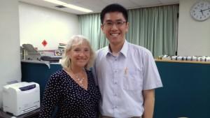 Professor Sheila Payne, EAPC President, with Dr Ping-Jen Chen