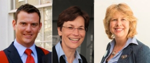 Left to right: Dr Charles Reilly, Prof Claudia Bausewein and Prof Irene Higginson