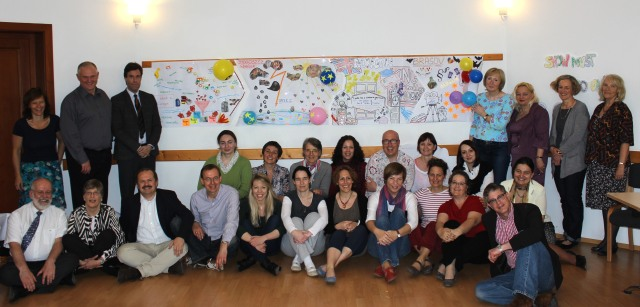 Graduate students of the European Palliative Care Academy, faculty members and guests