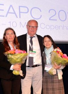 Left to right: Marlene Sandvad, Prof Per Sjøgren and Fiona Wong