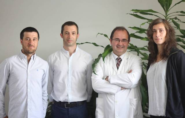 Some of the authors of this study: (left) Eduardo Garralda, José Miguel Carrasco, Carlos Centeno and Kathrin Woitha