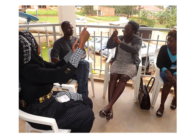 Deaf participants take part in palliative care training in Uganda (with kind permission of Palliative Care Association of Uganda)