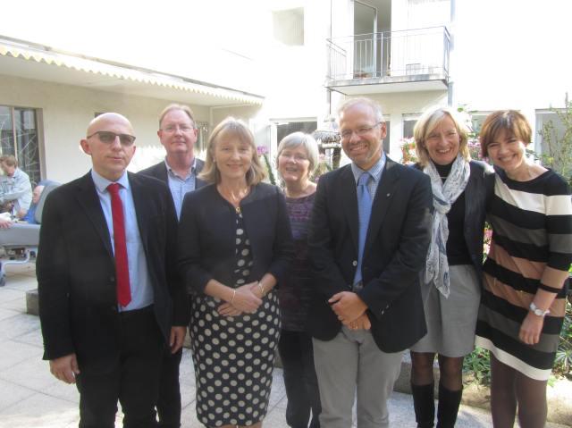 EAPC/HFA Task force meeting in Basel: Left to right: Piotr Sobanski, James Beattie, Jillian Riley, Miriam Johnson, Manuel Martinez-Selles, Louise Bellersen and Margorzata Krajnik