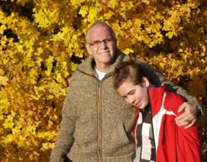 This picture of my husband and son was taken in October 2011. Both died in January 2012; first our child, 15 years old, then three weeks later my husband at the age of 53.(Picture: © Petra Mahler).