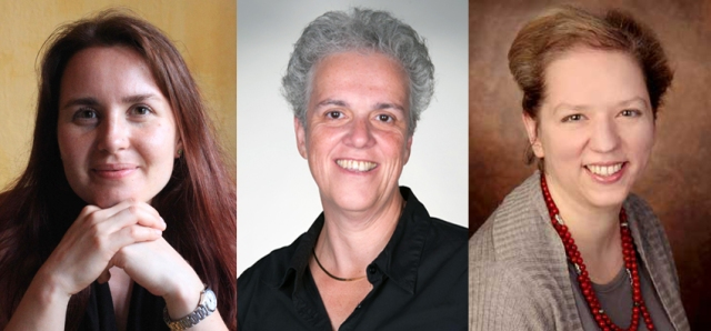 Members of the Metaphor in End of Life Care project: (left to right) Zsófia Demjén, Elena Semino and Veronika Koller