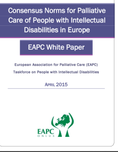 EAPC white paper intellectual disabilities