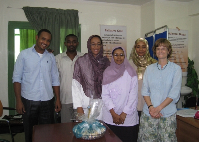 Members of the palliative care team in the oncology centre, Sudan