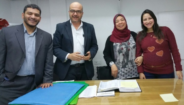 Physicians of the Palliative Medicine Unit of Kasr Al-Ainy. From left to right: Wessam Elsherief, Samy Alsirafy, Dina Farag and Catherine Atallah