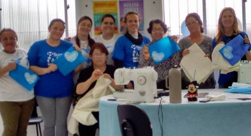 Members of the team, Project Estar ao Seu Lado, taking part in a World Hospice and Palliative Care Day event in 2015