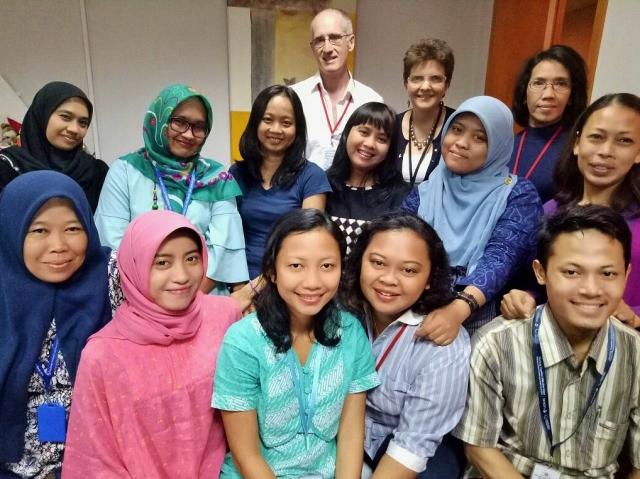 Julia (back row) with members of the Rachel House team