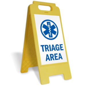 yellow-triage-sign